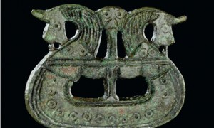 Brooch shaped like ship, Viking exhibition